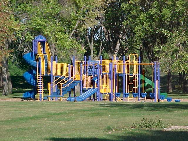 This is a photo of playground equipment at Memorial Play