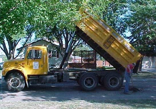 This is a photo of a dump truck