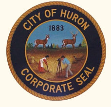 This is an image of the city seal of Huron, South Dakota