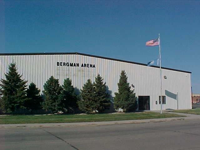 This is a photo of the outside of Bergman Arena