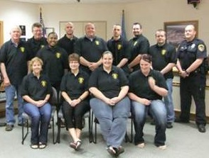 This is a photo of Citizen's Police Academy members