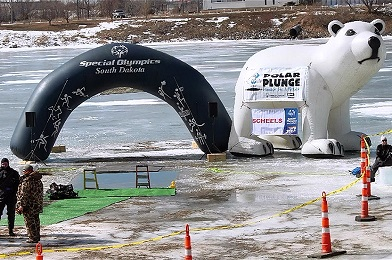 This is a photo of the Polar Plunge event