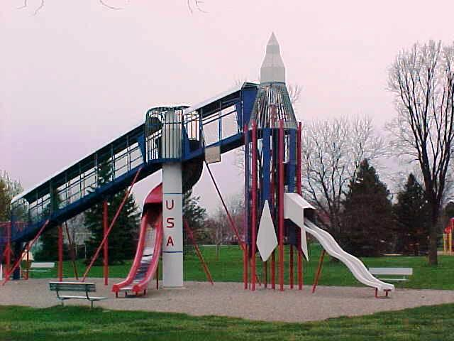 This is a photo of Rocket Slide located at Prospect Park
